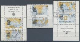 FRANCE :1992: Y.C2523 (Y.2517-22) Oblitéré Avec Bords De Feuille, - Personnages