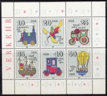 Oost-Duitsland - Historisches Spielzeug (I)  - Michel 2566 - 2571 Kleinbogen - Xx/postfris/MNH - Blokken