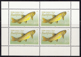 Oost-Duitsland - Süßwasserfische - Michel Kleinbogen 3096I - Xx/postfris/MNH - [6] Oost-Duitsland