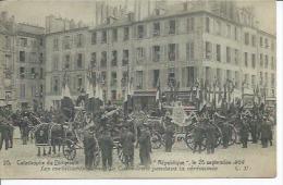 """20 - CATASTROPHE DU DIRIGEABLE """" REPUBLIQUE """" LE 25 SEPTEMBRE 1909 - LES CORBILLARDS DEVANT... ( Animées ) VERSAILLES - Versailles"""