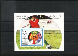 Olympic, Soccer S/s  Of Sharjah MNH - 1974 – Westdeutschland