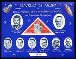 175 - Panama 1963 History Of Space Imperf M/sheet Unmounted Mint, Numbered From A Limited Printing Unmount... - Panamá