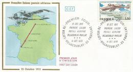 France 1978 Timbre N° 51 (aérien)  Sur Lettre 1er Jour FDC 64e Anniversaire De La 1ère Liaison Postale Aérienne  Entre V - Poste