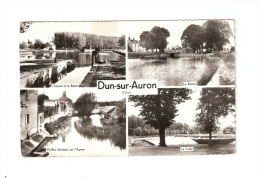 CSM : 18 - Cher : Dun Sur Auron - Multivues ( 4) : écluse & Bassin - Bassin - Vieilles Maisons Auron- La Calle - Dun-sur-Auron