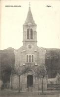 BREGNIER-CORDON : L'Eglise - RARE CPA - Cachet De La Poste 1918 - Francia
