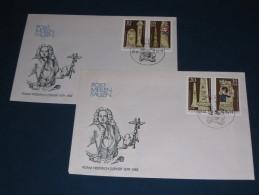 FDC DDR Ersttagsbrief Deutschland 1984 Post Meilen Säulen Adam Friedrich Zürner - FDC: Briefe