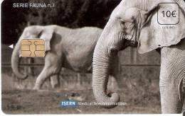 ISN-105 TARJETA DE ESPAÑA DE ISERN DE SERIE FAUNA Nº7 ELEFANTE- ELEPHANT - España