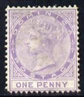 102870 - Dominica 1877-79 QV Crown CC P14 1d Lilac Mounted Mint SG5 - Sin Clasificación