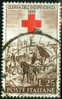 ITALIA, ITALY, ITALIE, REPUBBLICA, II GUERRA INDIPENDENZA, 1959, FRANCOBOLLO USATO, Scott 779, YT 794, Un 867 - 6. 1946-.. Repubblica