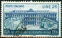 ITALIA, ITALY, ITALIE, REPUBBLICA, RISPARMIO POSTALE, 1956, FRANCOBOLLO USATO, Scott 720, YT 736, Un 808 - 6. 1946-.. Repubblica