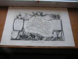 Atlas LEVASSEUR De 1852 - Département Du Loiret - - Historische Dokumente