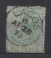 LAGOS QV  SG 6 USED CAT £17  SEE SCAN - Nigeria (...-1960)