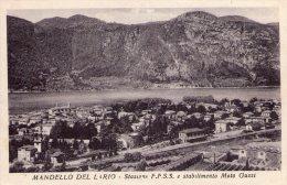 MANDELLO LARIO  , Stazione Ferroviaria , Stabilimento  Moto Guzzi - Lecco