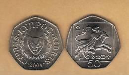CHIPRE -   50 Cents  2004 SC  KM66 - Chipre