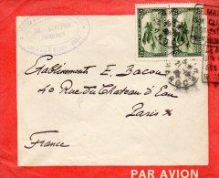 MAROC ENVELOPPE LATECOERE DEPART RABBAT POUR PARIS - Lettres & Documents