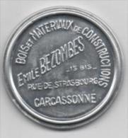 CARCASSONNE -  MIROIR DE POCHE PUBLICITAIRE - BOIS ET MATERIAUX - EMILE BEZOMBES - Unclassified