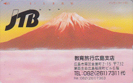 Télécarte Japon / 110-127 - JTB - Volcan Mont FUJI - Vulcan Japan Phonecard Telefonkarte - MD 1202 - Volcans