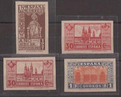 ES833s-L2142TAES.Spain. Apostol Santiago.AÑO JUBILAR COMPOSTELANO.Catedral.d19 37.( Ed 833/5**+834as**)sin Charnela.LUJO - Escultura