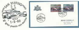 AUTOMOBILISMO  - FORMULA UNO III GRAN PREMIO S.MARINO - CON ANNULLO SPECIALE - Cartes Postales