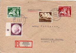 ALLEMAGNE LETTRE RECOMMANDEE KRAPPITZ 1942 - Allemagne