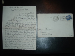 LETTRE TP PAIX 90C OBL.MEC. 11 V 1939 METZ R.LAFAYETTE (57 MOSELLE) + DESSIN 30EME DRAGONS 4E ESCADRON METZ - Marcophilie (Lettres)