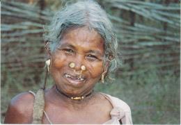 Postcard TRIBAL WOMAN In  ORISSA, INDIA Ethnic - India