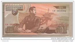 Corea Del Nord - Banconota Non Circolata Da 10 Won - 1998 - Corea Del Nord