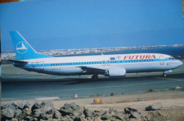 FUTURA   B 737 400     LX LGG   COULEUR LUXAIR - 1946-....: Era Moderna