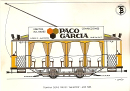 POSTAL DE ESPAÑA DEL TRANVIA ABIERTO DEL AÑO 1906 (TREN-TRAIN-ZUG) TRANSPORTES DE BARCELONA - Tranvía