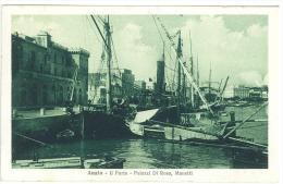 CARTOLINA -  ANZIO - IL PORTO - PALAZZI DI ROSA, MANETTI - BARCHE ORMEGGIATE - VIAGGIATA NEL 1917 - Italia