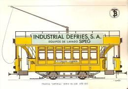 POSTAL DE ESPAÑA DEL TRANVIA IMPERIAL DEL AÑO 1914 (TREN-TRAIN-ZUG) TRANSPORTES DE BARCELONA - Tranvía