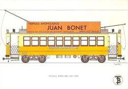 POSTAL DE ESPAÑA DEL TRANVIA SERIE 500 DEL AÑO 1926 (TREN-TRAIN-ZUG) TRANSPORTES DE BARCELONA - Tranvía