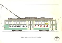 POSTAL DE ESPAÑA DEL TRANVIA MAQUITRANS DEL AÑO 1944 (TREN-TRAIN-ZUG) TRANSPORTES DE BARCELONA - Tranvía