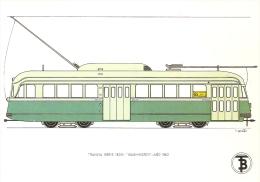 POSTAL DE ESPAÑA DEL TRANVIA WASHINTON DEL AÑO 1962 (TREN-TRAIN-ZUG) TRANSPORTES DE BARCELONA - Tranvía