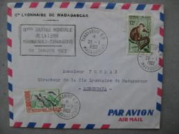 Timbre Sur Enveloppe : Poivre Et Protection De La Faune  9ème Journée Mondiale De La Terre 1962 - Madagascar (1960-...)