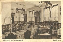 PORTUGAL - SANTAREM - ABIDIS HOTEL-SALA DE MESA - 40S ADV. PC. - Santarem