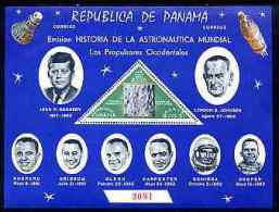 2135 - Panama 1963 History Of Space Perf M/sheet Unmounted Mint, Numbered From A Limited Printing - Panamá
