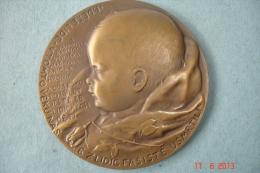 """Rare Médaille Slovaquesignée """"Médaille Des Enfants De Lidice"""".Massacres De 1942Exergue En Tchèque Dia 5cms - Militari"""