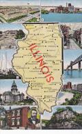 Illinois Map Of Illinois Multi View Curteich