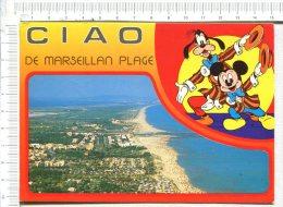 MARSEILLAN  PLAGE  -  1 Vue -  Une Illustration  De Mickey ( Disney)  -  CIAO De Marseillan - Marseillan