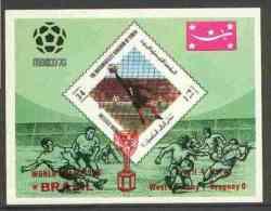 29294 - Yemen - Royalist 1970 World Cup Football 34b Value (diamond Shaped) Imperf M/sheet Unmounted Mint Op... - Sin Clasificación