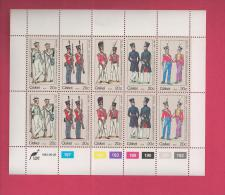 CISKEI, 1983, MNH Stamp(s) In Full Sheets, Military Unirforms, Nr(s) 47-51 - Ciskei