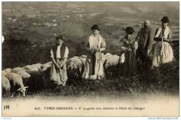 23-TYPES CREUSOIS- Y Au Garde Mou Mantous... Moutons HM 625..petit  Manque à Gauche - France