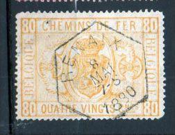CF 5 Oblitération Hexagonale RENAIX 8 Mai 1880 Trou D'épingle - Bahnwesen