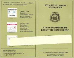 Brasserie DE KLUIS Hoegaarden-Carte D´identité D´Expert De Bonne Bière-Fruit  Défendu-Grand Cru... - Autres Collections