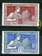 N° 212*-214*_assez Bon Centrage_1 Perfo Non Faite - Unused Stamps