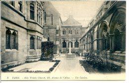 75008 PARIS - Holy Trinity Church - 23 Avenue De L'Alma (Georges V) - Le Jardin - Eglise Américaine De La Sainte Trinité - District 08