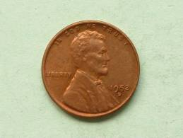1952 D - One Cent / KM A132 ( Uncleaned - For Grade, Please See Photo ) ! - 1909-1958: Lincoln, Wheat Ears Reverse