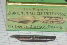 BOITE De PLUMES GILBERT BLANZY POURE N° 808 J - Plumes