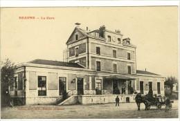 Carte Postale Ancienne Beaune - La Gare - Chemin De Fer - Beaune